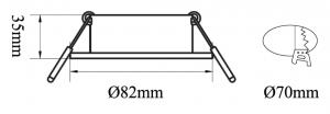 B5295 - DLR Trimless MR16 82