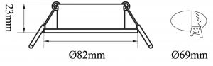 B5297 - DLR Trim Flex MR16 82