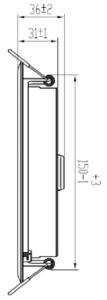 """929001444080 - CertaFlux DLM Slim 1000lm 850 6"""""""